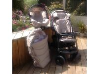 Graco car seat, push chair and carrier