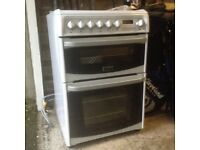 Freestanding White, Harrogate Electric Cooker with Gas Hob and Grill