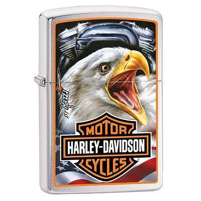 Zippo Harley Davidson Mazzi Lighter With Eagle & Harley Logo, 29499, New In box
