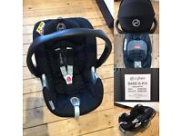Cybex Aton Q Baby Car Seat and Q-fix base