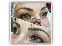 Microblading semi permanent eyebrows make up & nails