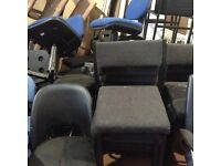 Fabric Stackable Seats - Black With Metal Frame