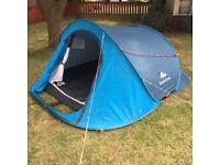 Blue Quechua 3 man tent - pop up - easy (ref. 29)