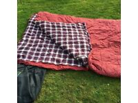 Wynnster Ranger Double Sleeping Bag Maroon Cotton lined