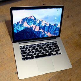 15.4 Retina MacBook Pro, Late 2013, 2.3 i7, 512Gb SSD, 16Gb RAM, AppleCare, New Logic board+Screen