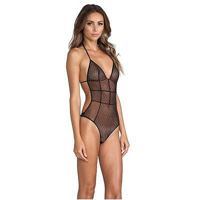 Love Haus by Beach Bunny Black Sheer Sexy Body Suit LH1410065](Black Bunny Suit)