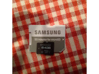 Micro SD Card 64GB Fully Working formatted to FAT32