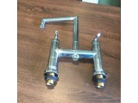 Solid brass chrome mixer bath taps