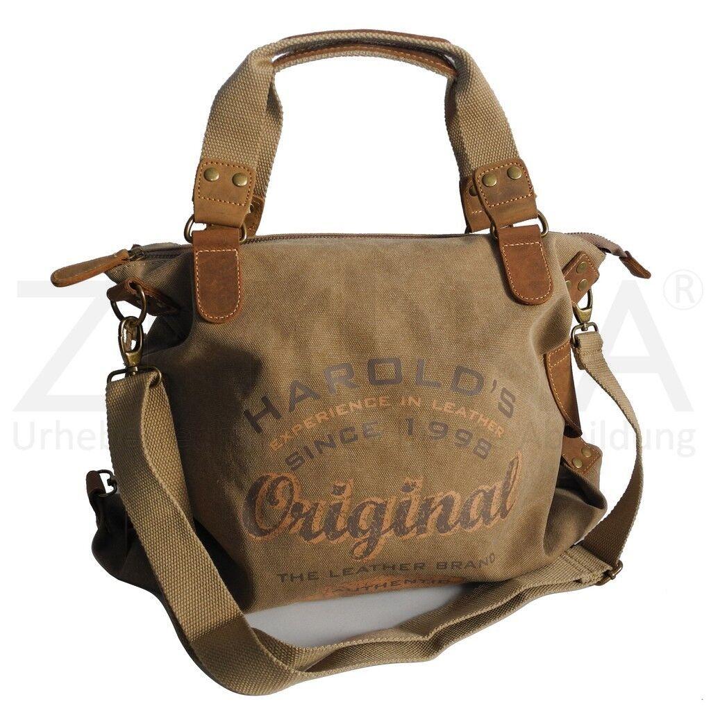 Jennifer Jones - Canvas Damen Umhängetasche Handtasche  Schultertasche - Natur