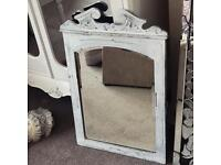 Antique, shabby chic solid wood mirror