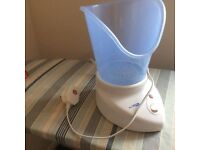 Facial saunter ; hand held massager and foot massager