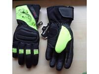Motorbike Gloves- Ladies-Small-Hi-Viz Pair & Black Pair