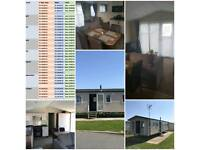 8 BERTH DOUBLE GLAZED, CENTRAL HEATED CARAVAN FOR RENT IN CLACTON -ON-SEA IN HIGHFIELD GRANGE PARK