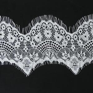 3-Yard-10cm-Wide-White-Eyelash-Guipure-Lace-Trim-Wedding-Doll-Dress-DIY-Sewing