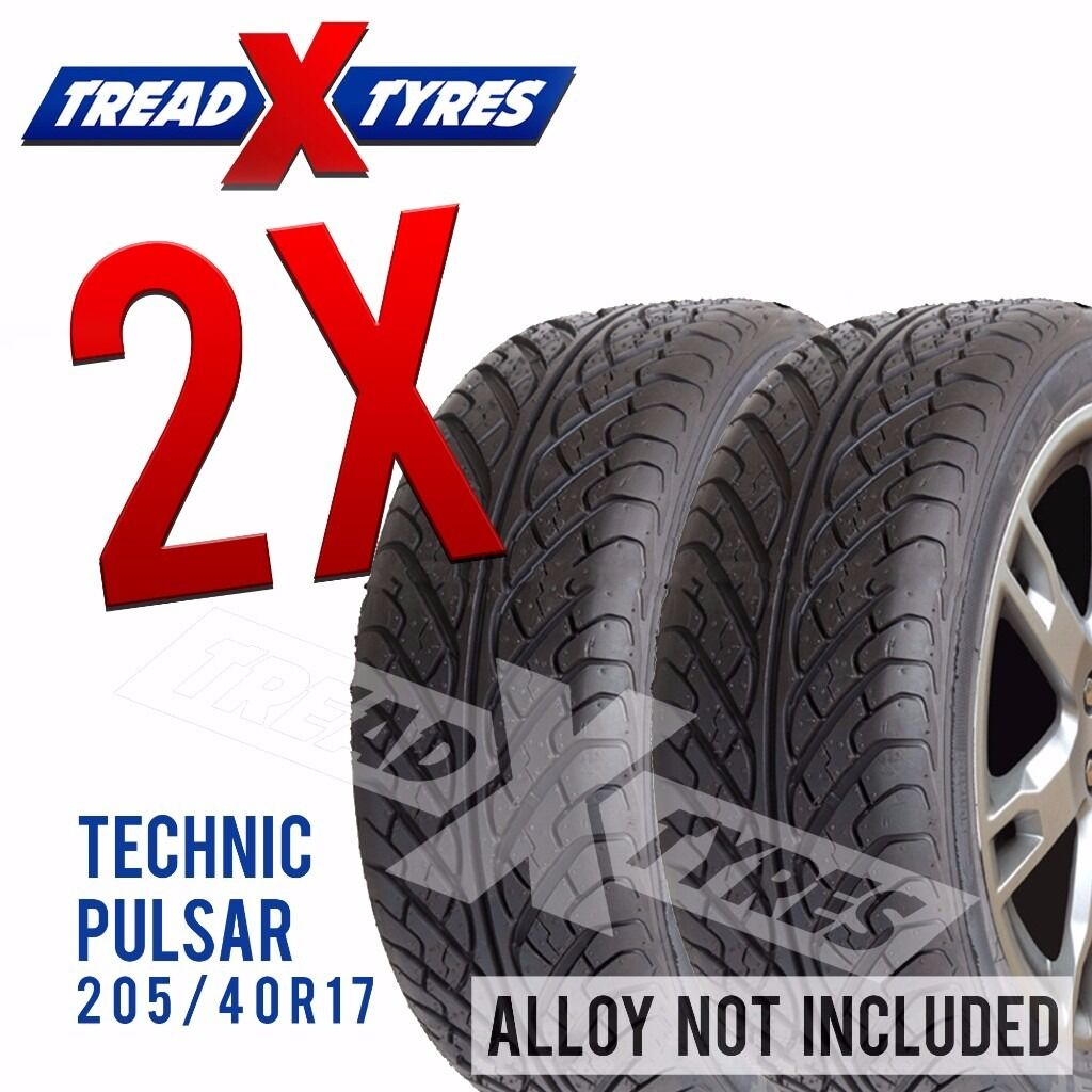 2 x New 205/40R17 Technic Pulsar Tyre - 205 40 17 - Fitting Available