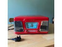 Steepletone USB Roxy 1 Record Player & Radio (Red) - £45 ONO