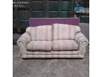 Marriots Biege Patterned 2 Seater Sofa (W)