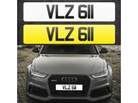 VLZ 611 - Short 3 digit NI Number Plate- Cherished Personal Private Registration plates