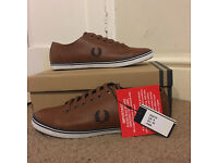 Fred Perry Kingston Leather Plimsoles