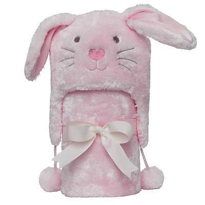 Elegant Baby Pink Winterland Bunny Aviator Hat and Stroller