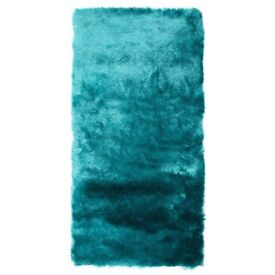 2x Teal Plush Heavy Weight Rugs