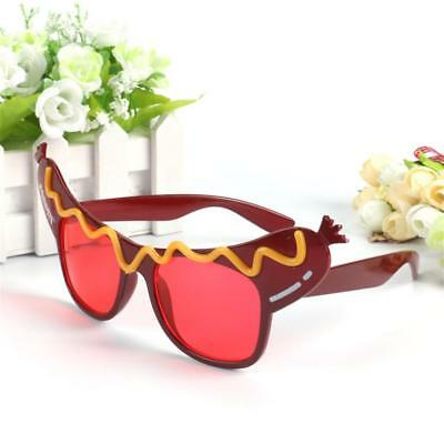 Women Girls Novelty Costume Glasses Hot Dog Print Design Event Eyewear Gifts