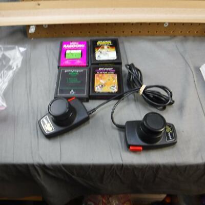 Atari Paddles and 4 Games Breakout Circus Kaboom and Casino Tested & working