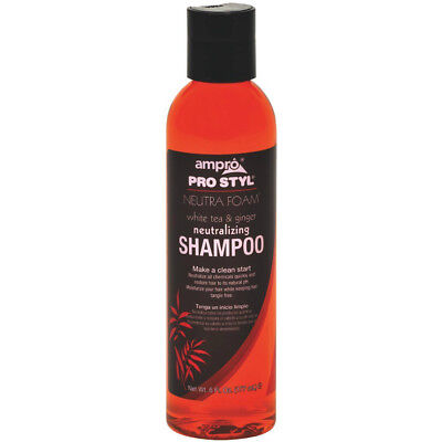- [AMPRO] PRO STYL NEUTRA FOAM SHAMPOO W/ WHITE TEA & GINGER 6OZ NEUTRALIZING