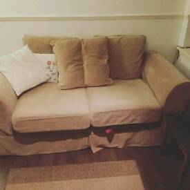 Light brown used sofa bed
