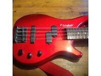 Westfield Bass Gutar in red