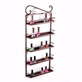 3-in-1-Bronze-metal-frame-nail-polish-holder
