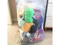 Wool - large bag of yarn