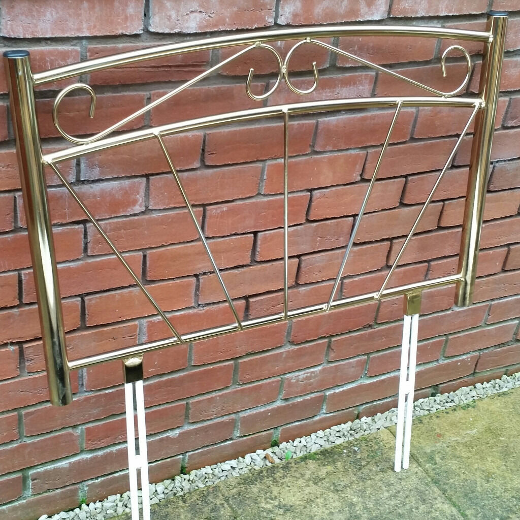 headboard for single beds. metal brass gold colour. In very good condition.
