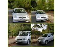 TOYOTA YARIS AUTOMATIC 5DOOR 1 OWNER 58000 WARRANTED MILES 14SERVICES MOT TILL10/10/2018 HPI CLEAR