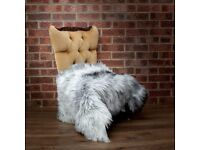 Natural sheepskin rugs. Outstanding look. Medium sizes