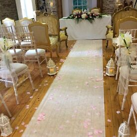 wedding ceremony decoration package wedding chair cover, candy cart