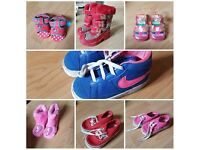 Bundle of girls shoes infant size 4 and 5 (vans, nike, minnie mouse, peppa pig) will split