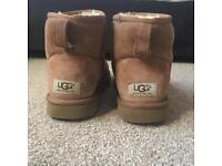 Women's short genuine Ugg Boots (chestnut) uk size 5