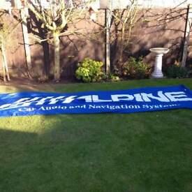 large alpine car audio banner
