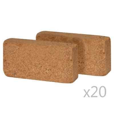 vidaXL 40x Coir Blocks 650g 20x10x4cm Gardening Coconut Fibre Compost Brick
