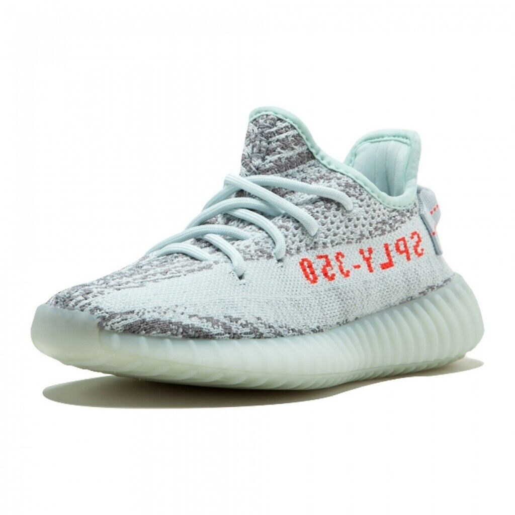free shipping d26a0 1223c Adidas Yeezy Boost 350 V2 Blue Tint 100% Authentic UK 7.5