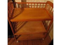 Beautiful Authentic pine baby changing table