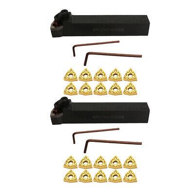 2set Cnc Metal Lathe Turning Tools Holder Bit Set Wcarbide Insertswrench