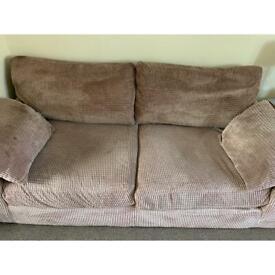 FREE 3 seater sofa pale brown