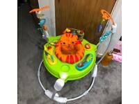 Fisher price roaring rainforest jumperoo baby activity bouncer toy