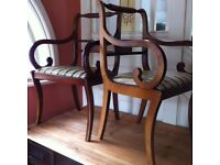 2 Vintage Sleigh Design Carver Chairs / Can Deliver