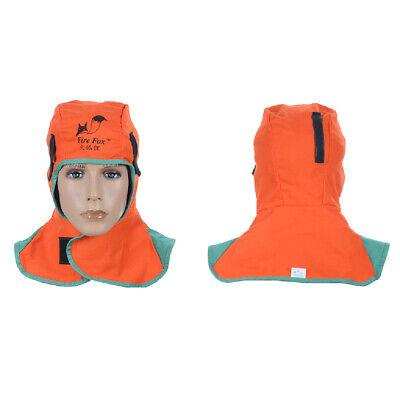 Flame Resistant Leather Welding Hood Safety Apparel Protective Headgear