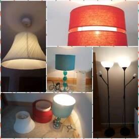 6 Lamps and lamp shade