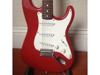 Fender Squier Strat and Marshall MG15CDR Amp