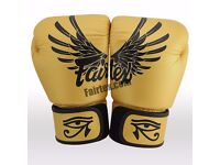 Used once limited edition fairtex 14oz gloves in yello